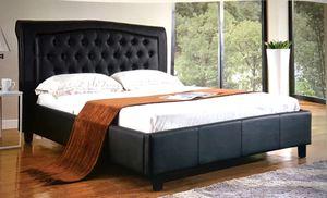 King or Queen black white platform bed for Sale in Glendale, AZ
