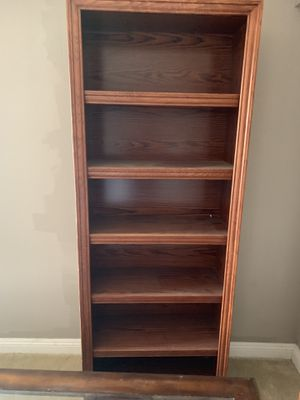 2 Beautiful large solid wood bookshelves for Sale in Riverside, CA