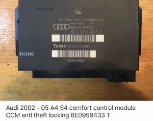 Audi 02-05 A4 S4 comfort control module for Sale in Dade City, FL