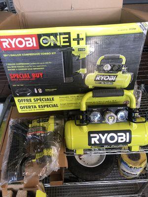 Ryobi 18v Compressor and nailer for Sale in Garden Grove, CA