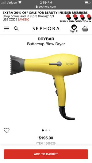 Drybar blow dryer turbo by Sephora for Sale in Pensacola, FL