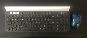 Logitech K780 wireless/Bluetooth keyboard and BT mouse for Sale in Lutz, FL
