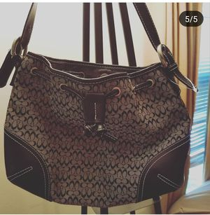 Authentic COACH drawstring logo handbag for Sale in North Potomac, MD