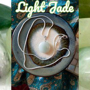 Tranquil Balance Light Jade Worry Charm 925 Necklace Luck Prosperity for Sale in Spokane, WA