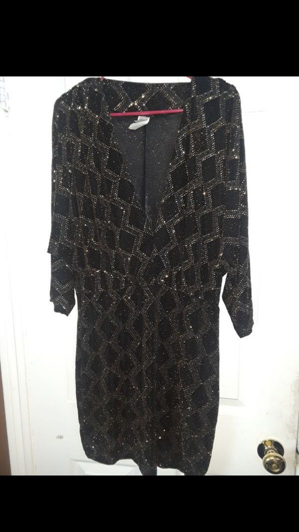 Party dress black and gold
