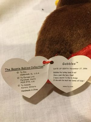 TY Beanie Baby - GOBBLES the Turkey (5.5 inch) for Sale in Detroit, MI
