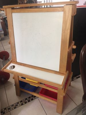 FREE STANDING PREMIUM BLACKBOARD SOLID WOOD with trays Storage. MUST GO for Sale in Pembroke Pines, FL