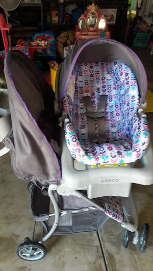 carriola con carseat. for Sale in San Jacinto, CA