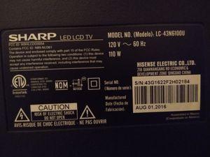 "43 "" Sharp Smart Tv for Sale in Sunbury, PA"