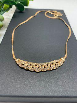 Romantic Choker Chain Necklace New Design Spiral Costume Jewelry Female Fashion Accessory, GOLD Color for Sale in Los Angeles,  CA