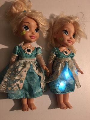 Singing Elsa Doll (one lights up, both sing) for Sale in Las Vegas, NV