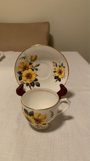 Duchess bone China cup and saucer Yellow flower for Sale in Pasco, WA