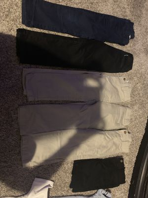 Boys school uniforms size 5 pants and Xs/s polos for Sale in Peoria, IL