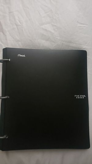 Five Stars Notebook Binder for Sale in Fontana, CA