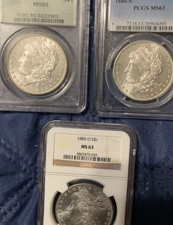Lot Of 3 Graded Morgan Silver Dollars for Sale in New Brighton,  PA