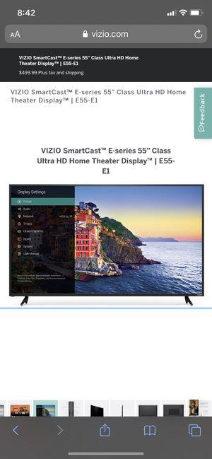 Vizio 55 inch Screen TV for Sale in Chandler, AZ