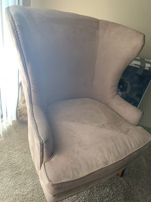 Wingback suede chair for Sale in Aurora, CO