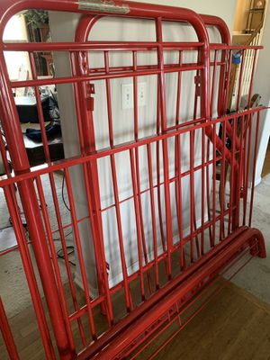Red metal bunk bed for Sale in Olathe, KS