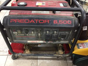 Predator 6,500 generator 6,500/5,500 for Sale in Rockville, MD