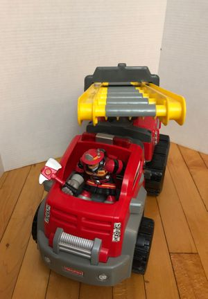 "Fisher price Firetruck with fire fighter 16"" lights & sounds work for Sale in West Springfield, MA"
