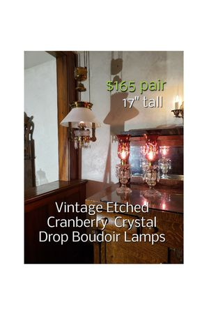 Vintage Etched Lamps $165 for Sale in Wellington, OH