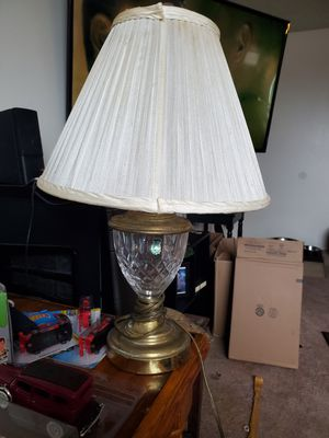 Vintage Waterford crystal lamp good condition needs polishing for Sale in San Diego, CA
