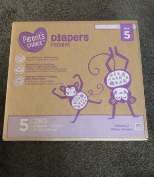 Parents choice diapers size 5 280 diapers for Sale in Bakersfield, CA