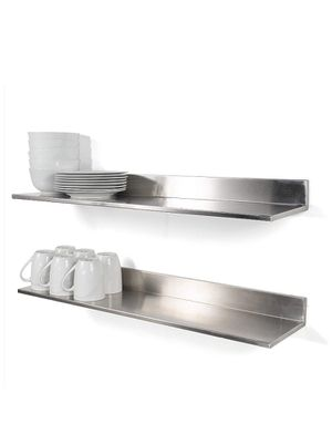 Stainless Steel Wall Mount Commercial and Home Use Premium Quality 30.50 Inches Kitchen Floating Shelves Set of 2 Silver for Sale in Claremont, CA