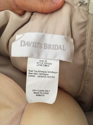 Size 10 David's Bridal prom/ event dress for Sale in La Vergne, TN
