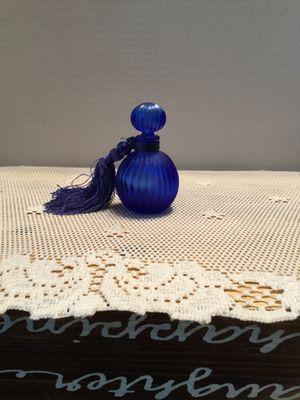Cobalt blue perfume bottle for Sale in Riverside, CA