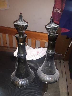 2 matching antique glass containers. for Sale in Seattle, WA