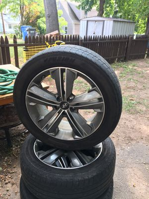 2014 Hyundai stock rims for sale or trade for Honda rims 4 lug for Sale in Hartford, CT