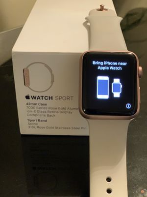 Rose Gold Apple Watch 42mm w/ AirPods Pro for Sale in Kissimmee, FL