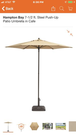 NEW Hampton Bay 7.5ft Patio Umbrella WITH PLASTIC BASE INCL. for Sale in Washington, DC