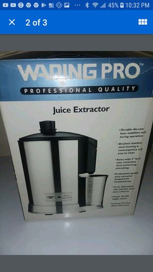 waring pro juice extractor for Sale in Houston, TX