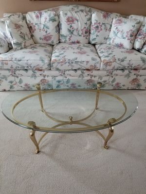 Coffee Table, Glass Top from Ethan Allen for Sale in Pleasanton, CA