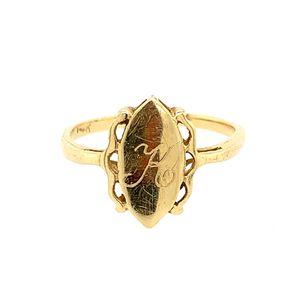14k K ring for Sale in Alexandria, VA