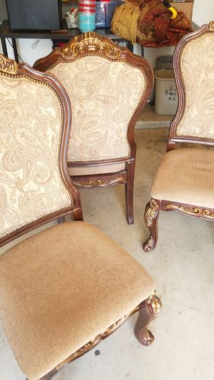 Antique Brown Wooden Chairs x3 for Sale in Mesa, AZ