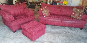 Microfiber couch, chair and ottoman for Sale in Gibsonton, FL