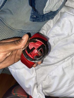 Red Gucci Signature belt for Sale in La Mesa, CA