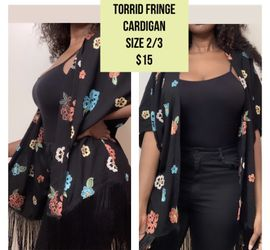 Torrid fringe cardigan size 2/3 for Sale in Germantown,  MD