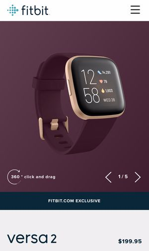 Fitbit Versa 2 (smart watch) for Sale in Moreno Valley, CA