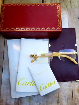 Cartier white buffalo horn Frameless glasses for Sale in Belleville, MI