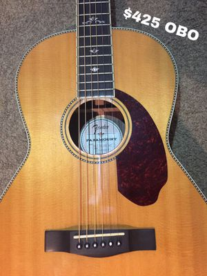Fender Paramount PM-2 Deluxe Parlor Acoustic/Electric Guitar - With Case for Sale in Bellevue, TN
