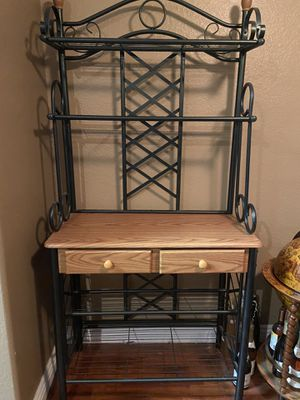 Bakers Rack (New Out of Box) hunter green for Sale in DEVORE HGHTS, CA