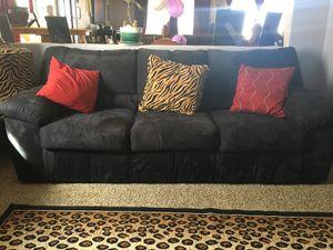 Black microfiber sofa for Sale in Perris, CA