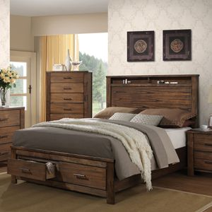 ACME Storage Furniture Bed, Queen, Oak for Sale in Broadview Heights, OH