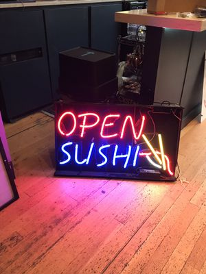 Neon open sushi sign for Sale in Portland, OR