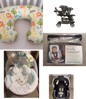 Baby staff bundle or separately stroller car seat nursing pillow swing body support for Sale in Melbourne, FL