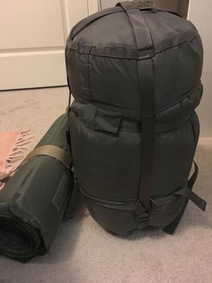 Military sleeping bag and inflatable pad for Sale in Tampa, FL